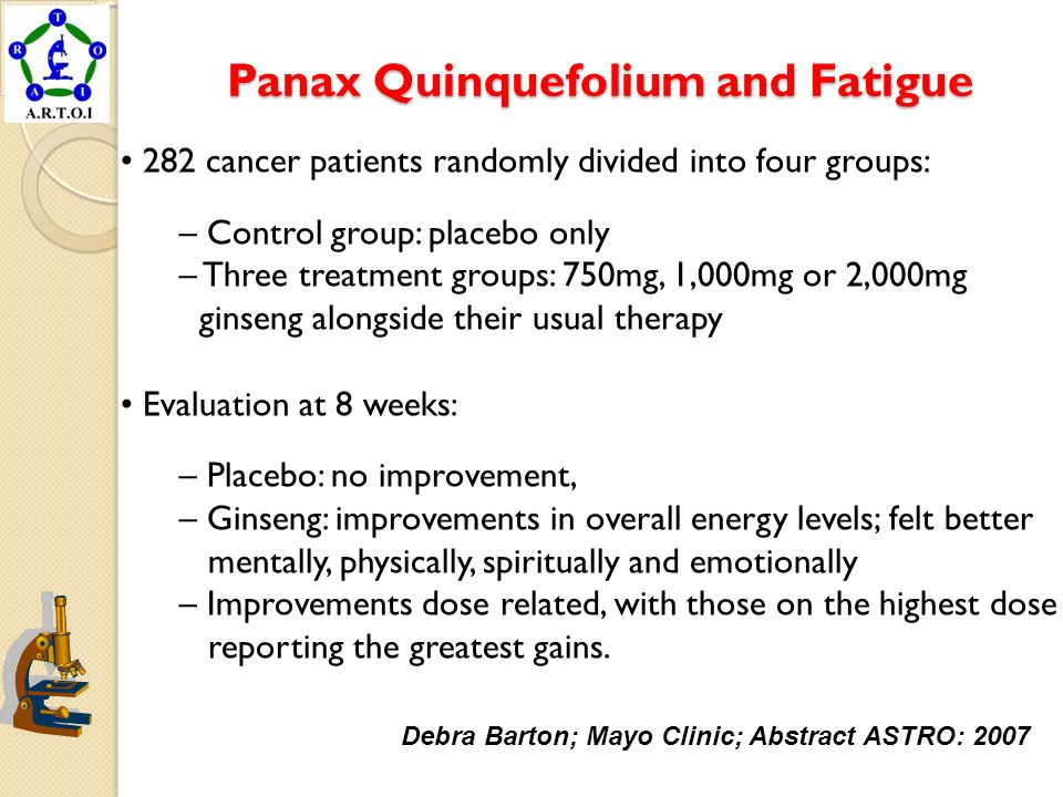 Panax Quinquefolium and Fatigue