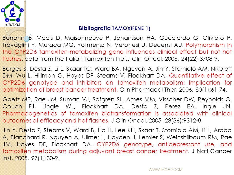 Bibliografia TAMOXIFENE 1)