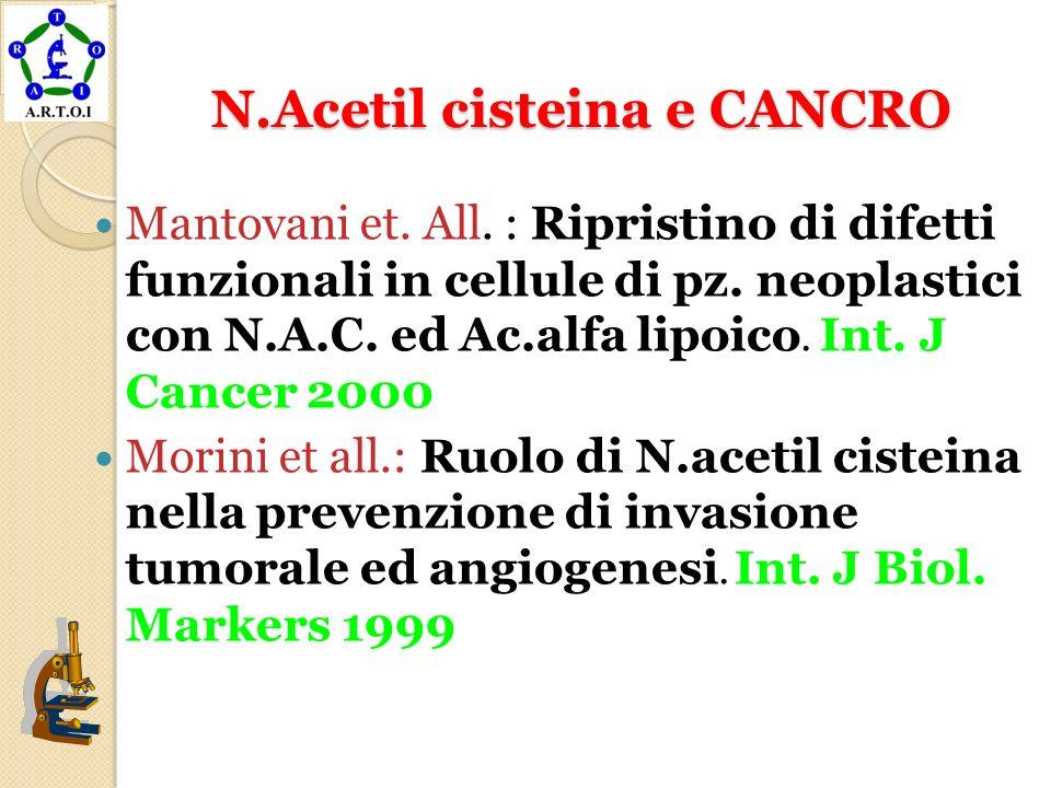 N.Acetil cisteina e CANCRO