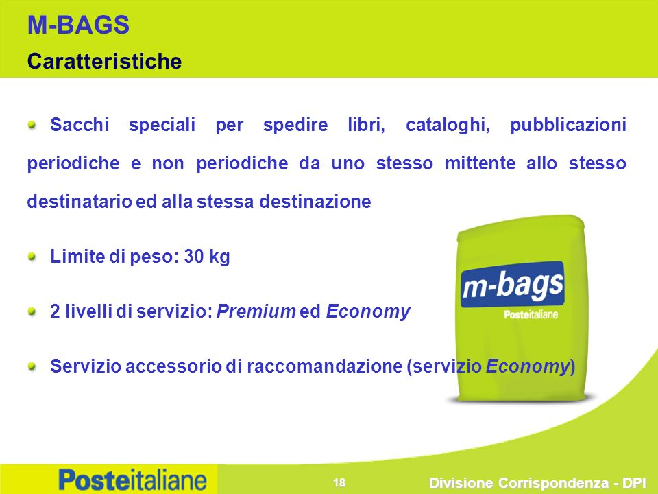 M-BAGS Caratteristiche