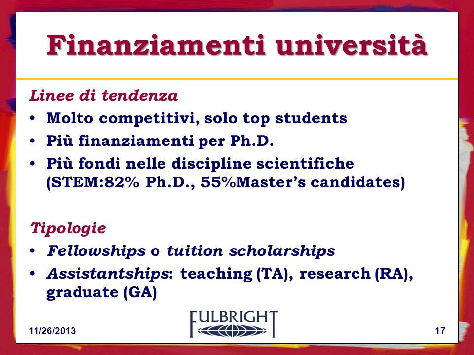 Finanziamenti università