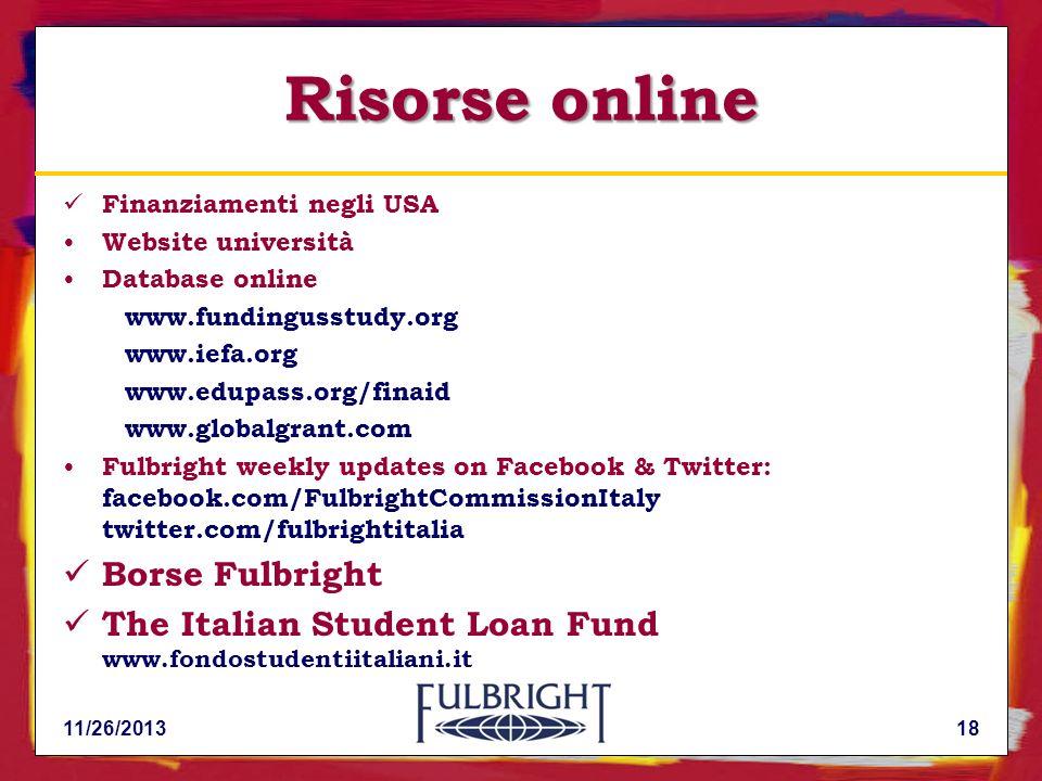 Risorse online Borse Fulbright