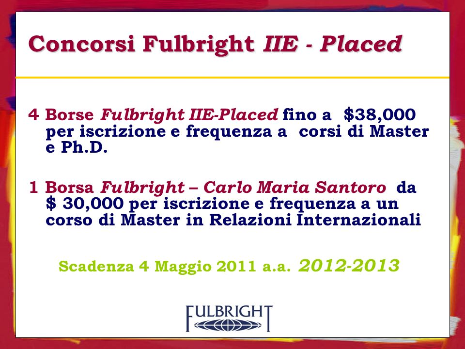 Concorsi Fulbright IIE - Placed