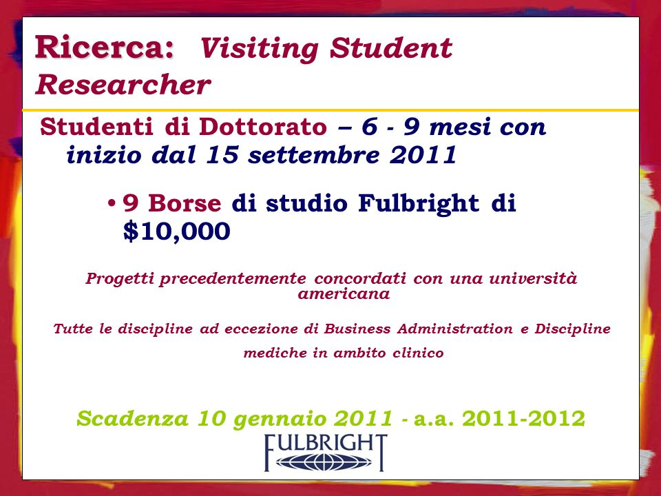 Ricerca: Visiting Student Researcher