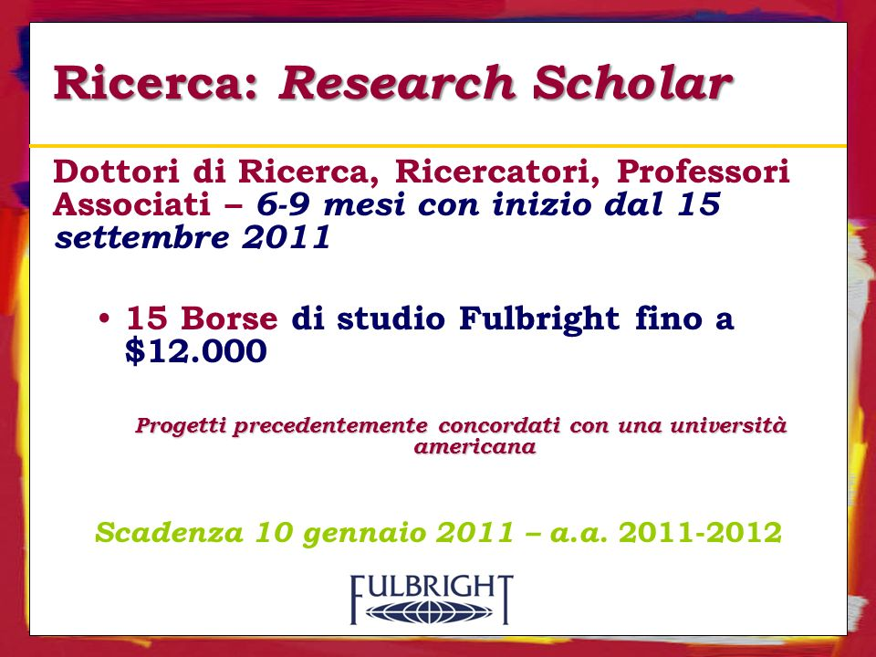 Ricerca: Research Scholar