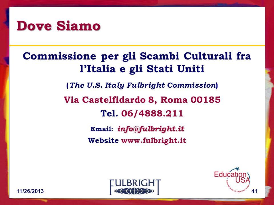 Dove Siamo Commissione per gli Scambi Culturali fra l'Italia e gli Stati Uniti. (The U.S. Italy Fulbright Commission)