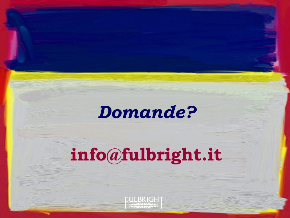 Domande info@fulbright.it
