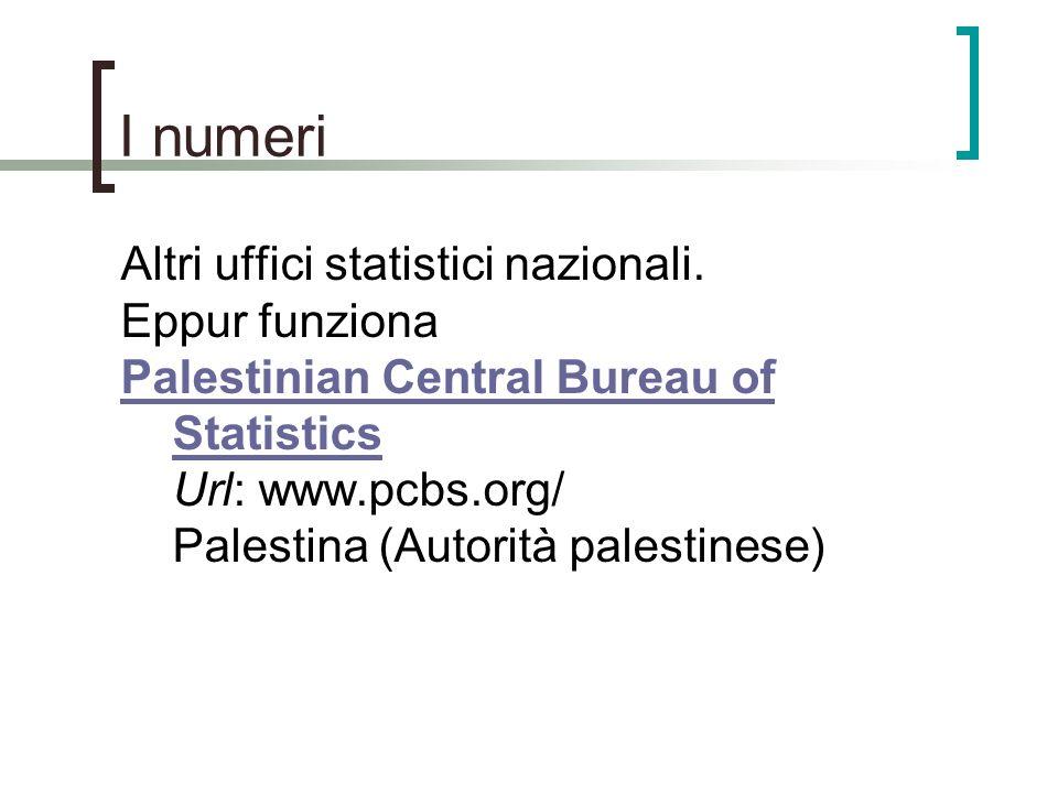 I numeri Altri uffici statistici nazionali. Eppur funziona