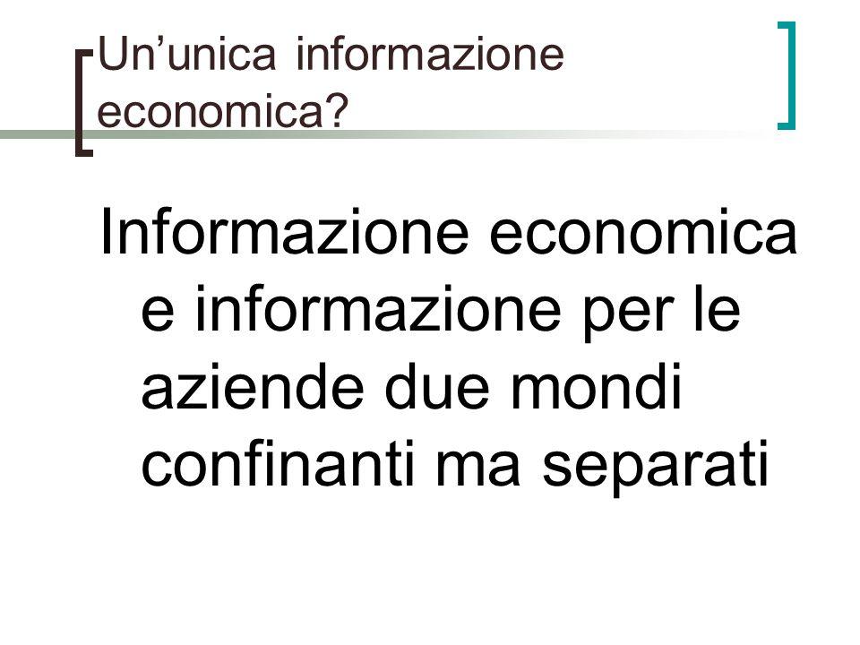 Un'unica informazione economica