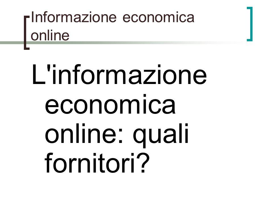 Informazione economica online