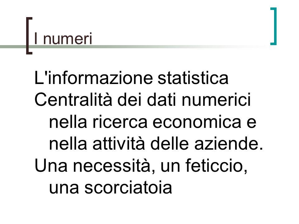 L informazione statistica