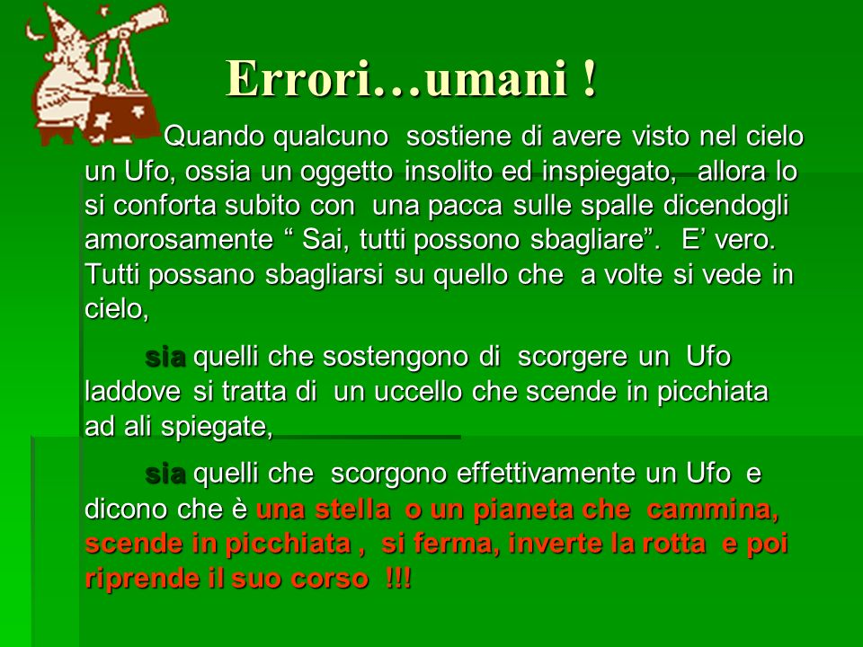 Errori…umani !