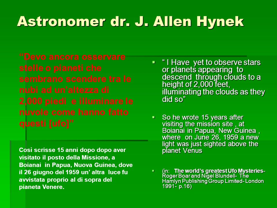 Astronomer dr. J. Allen Hynek