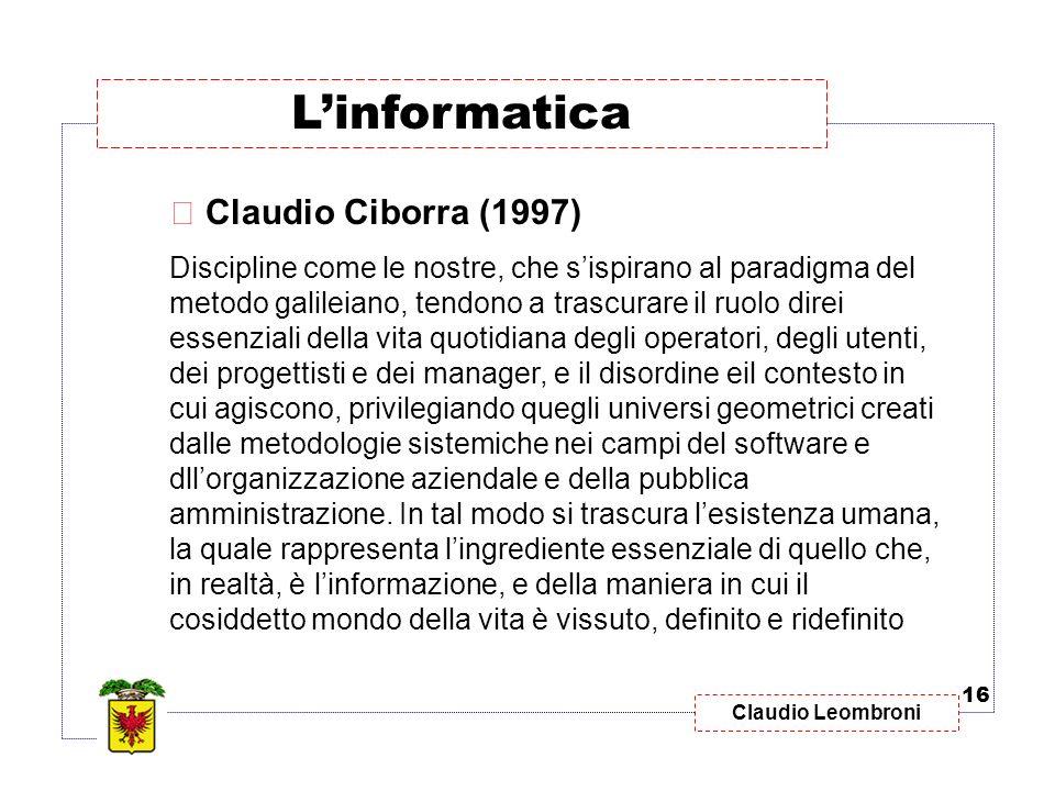 L'informatica Claudio Ciborra (1997)