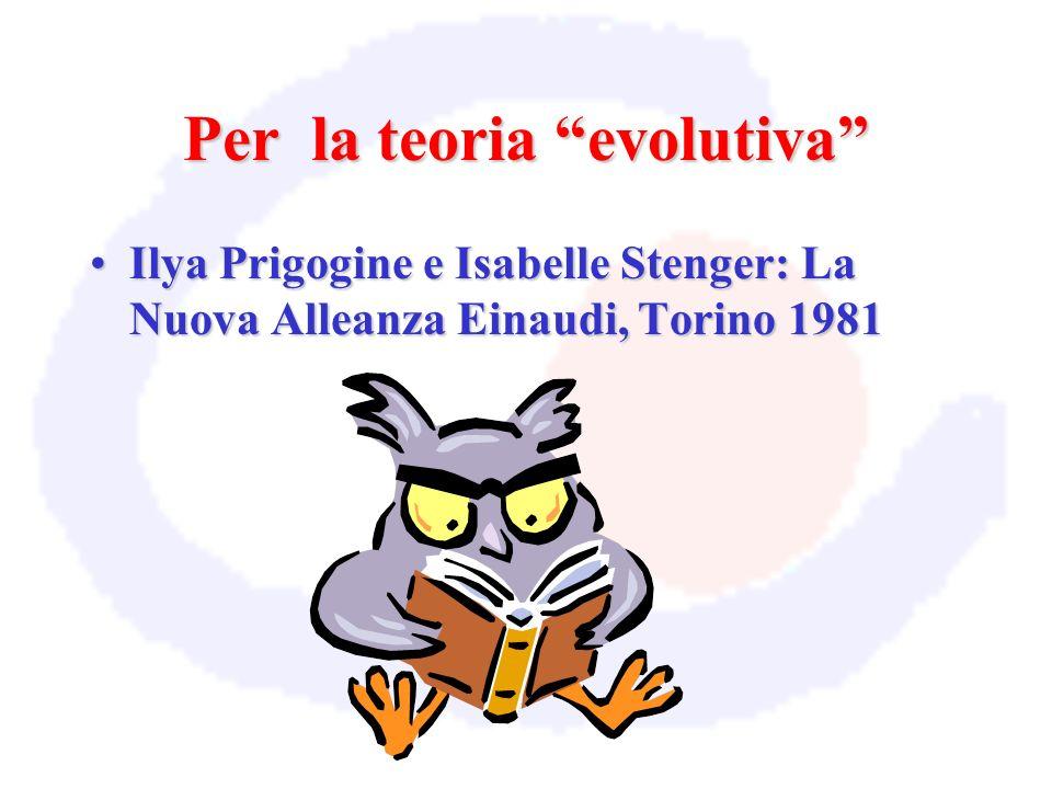 Per la teoria evolutiva