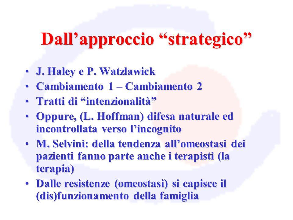 Dall'approccio strategico