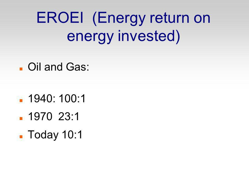 EROEI (Energy return on energy invested)‏