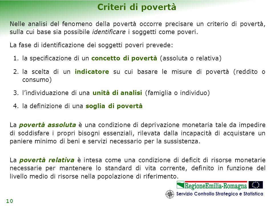 Criteri di povertà