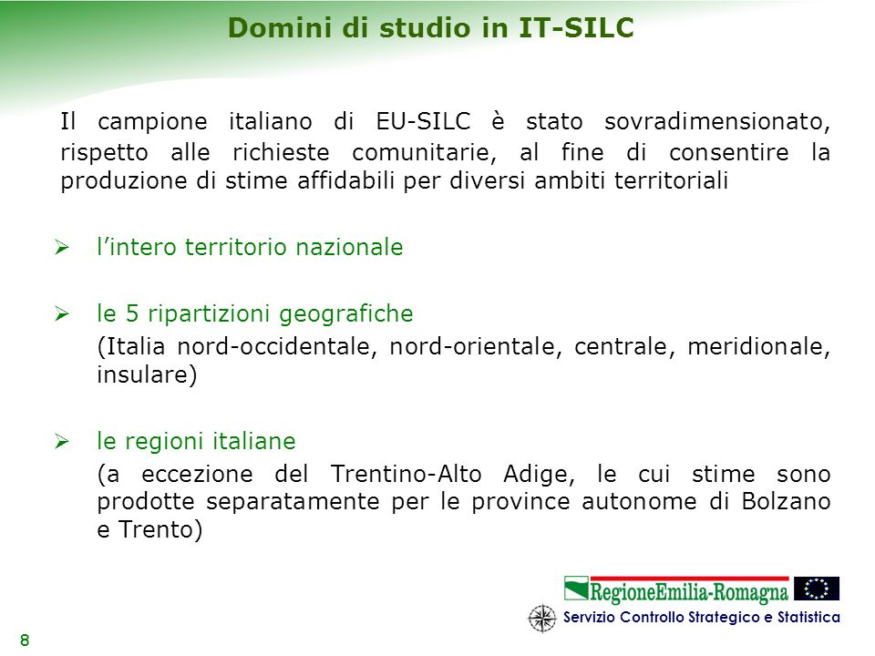 Domini di studio in IT-SILC