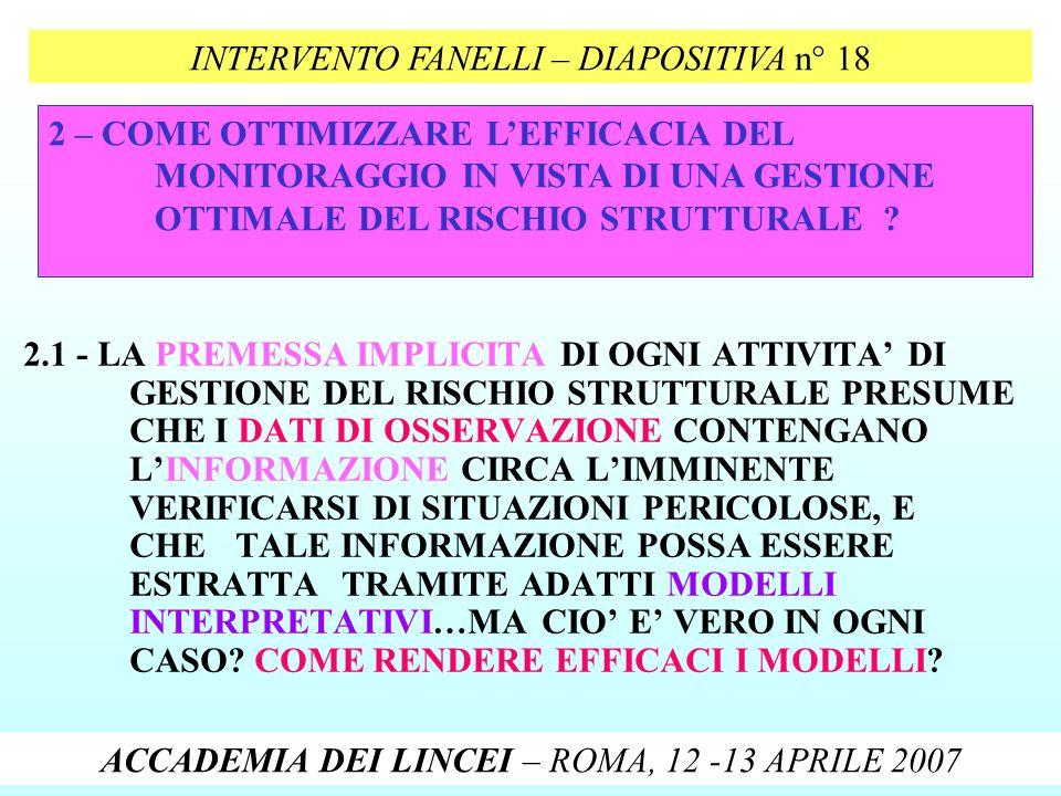 INTERVENTO FANELLI – DIAPOSITIVA n° 18