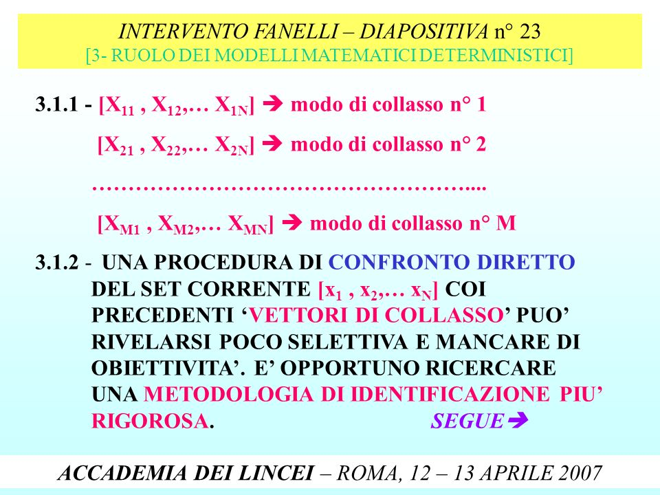 INTERVENTO FANELLI – DIAPOSITIVA n° 23