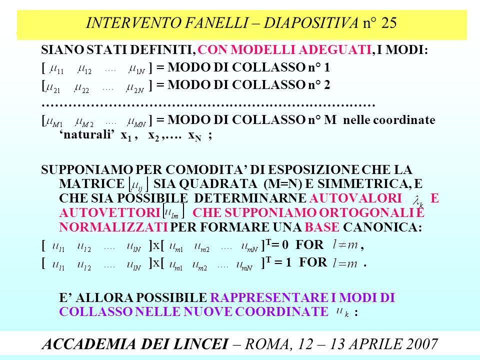 INTERVENTO FANELLI – DIAPOSITIVA n° 25