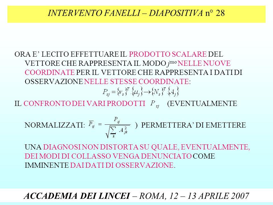 INTERVENTO FANELLI – DIAPOSITIVA n° 28