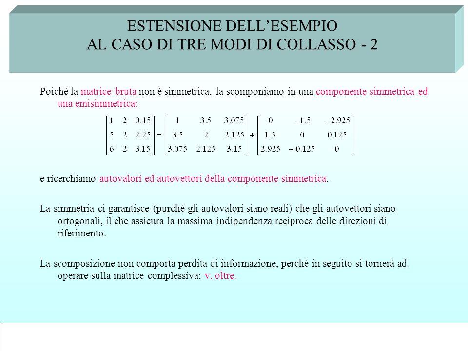 ESTENSIONE DELL'ESEMPIO AL CASO DI TRE MODI DI COLLASSO - 2