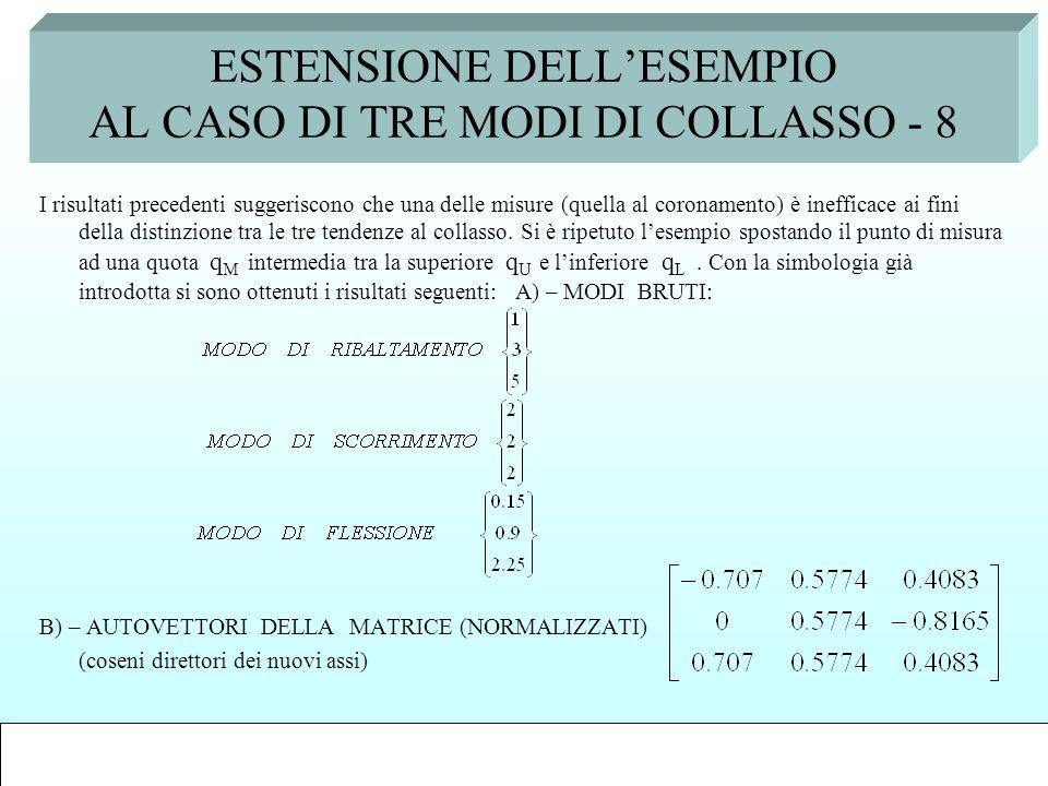 ESTENSIONE DELL'ESEMPIO AL CASO DI TRE MODI DI COLLASSO - 8