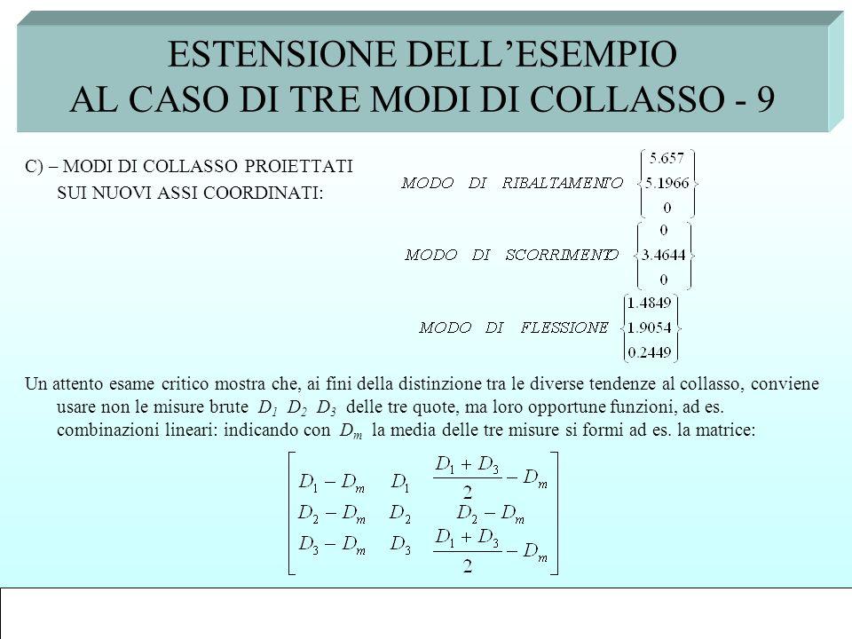 ESTENSIONE DELL'ESEMPIO AL CASO DI TRE MODI DI COLLASSO - 9