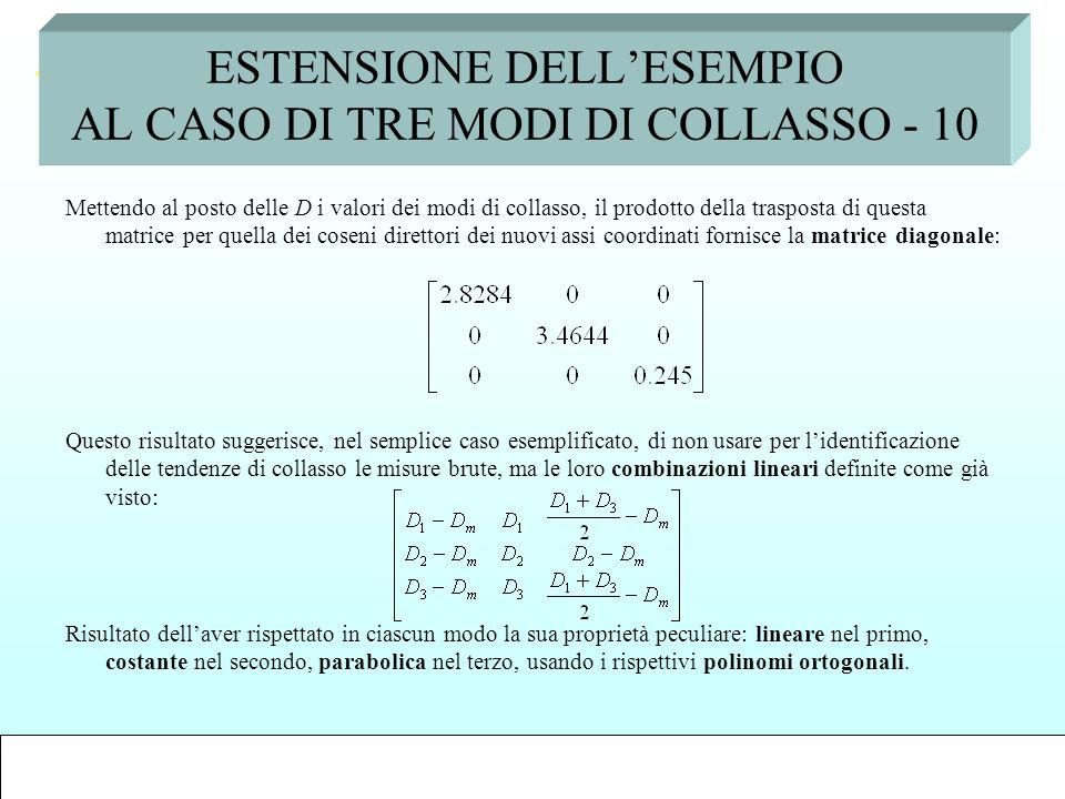 ESTENSIONE DELL'ESEMPIO AL CASO DI TRE MODI DI COLLASSO - 10
