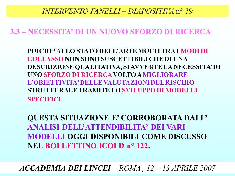 INTERVENTO FANELLI – DIAPOSITIVA n° 39