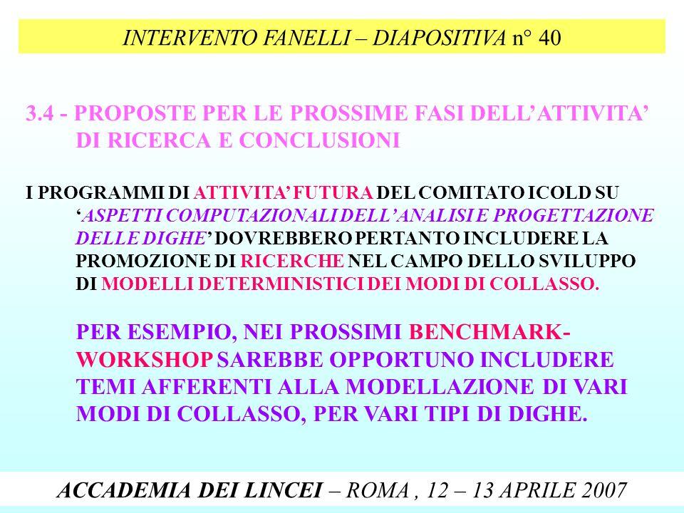 INTERVENTO FANELLI – DIAPOSITIVA n° 40
