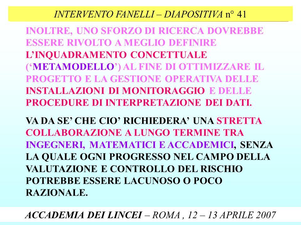INTERVENTO FANELLI – DIAPOSITIVA n° 41