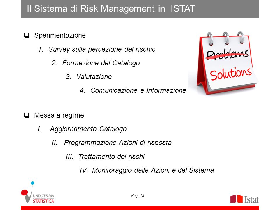 Il Sistema di Risk Management in ISTAT