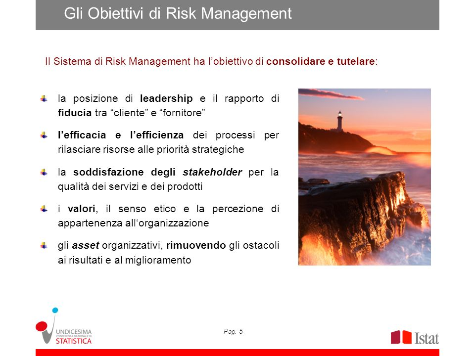 Gli Obiettivi di Risk Management