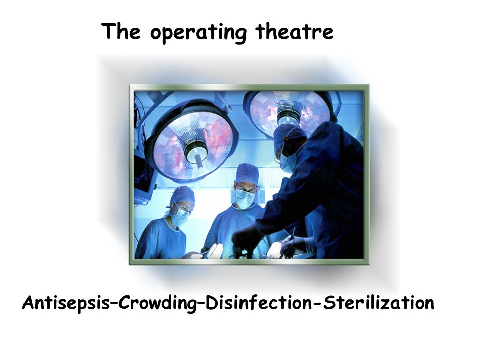 The operating theatre Antisepsis–Crowding–Disinfection-Sterilization
