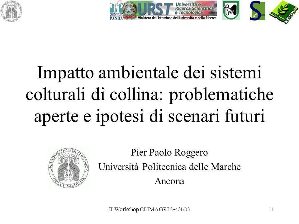 Pier Paolo Roggero Università Politecnica delle Marche Ancona