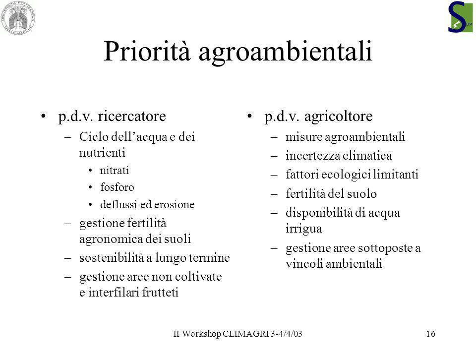 Priorità agroambientali