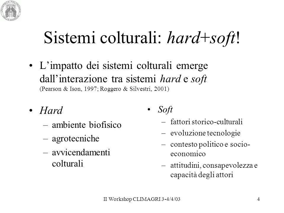 Sistemi colturali: hard+soft!