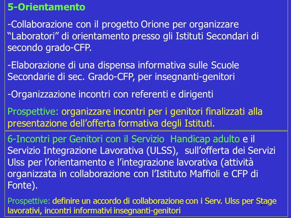 -Organizzazione incontri con referenti e dirigenti