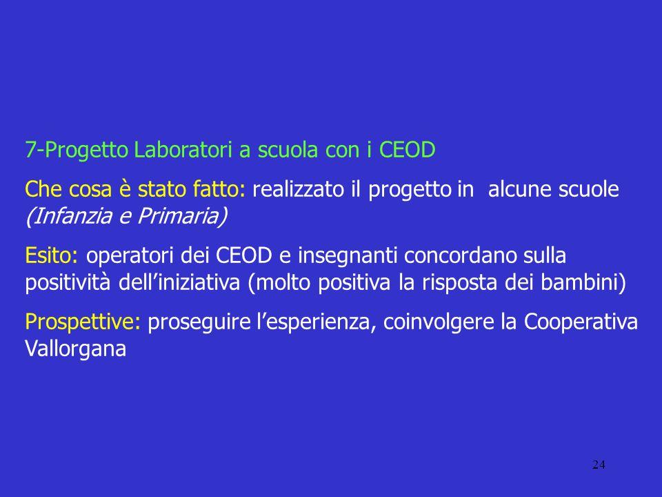 7-Progetto Laboratori a scuola con i CEOD