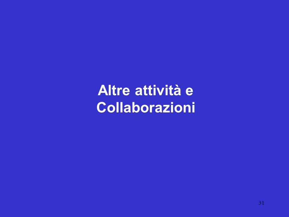 Altre attività e Collaborazioni