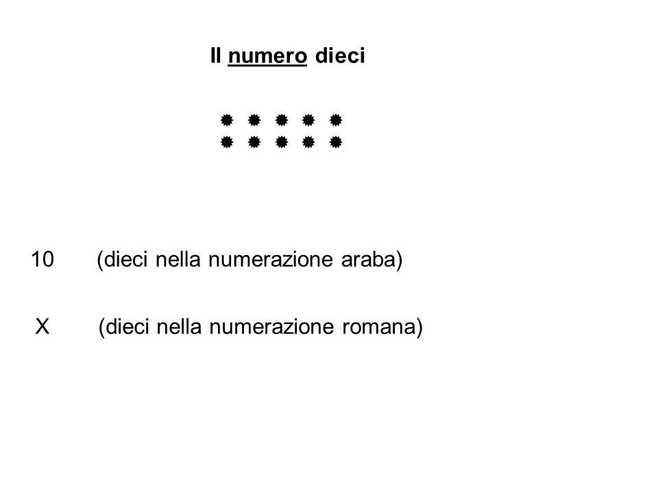 10 (dieci nella numerazione araba)