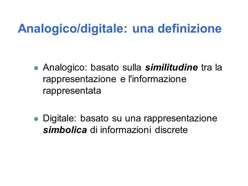 Analogico/digitale: una definizione