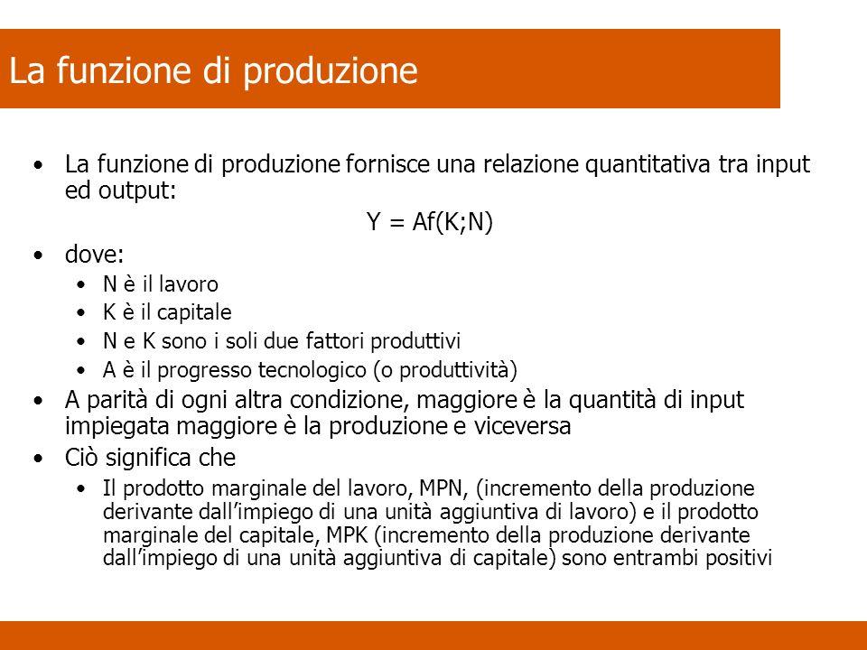 La funzione di produzione