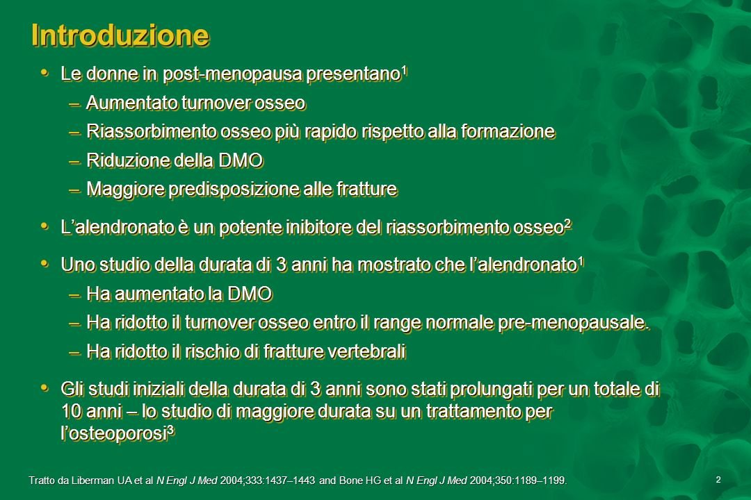 Introduzione Le donne in post-menopausa presentano1