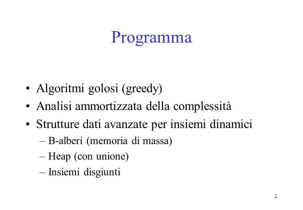 Programma Algoritmi golosi (greedy)
