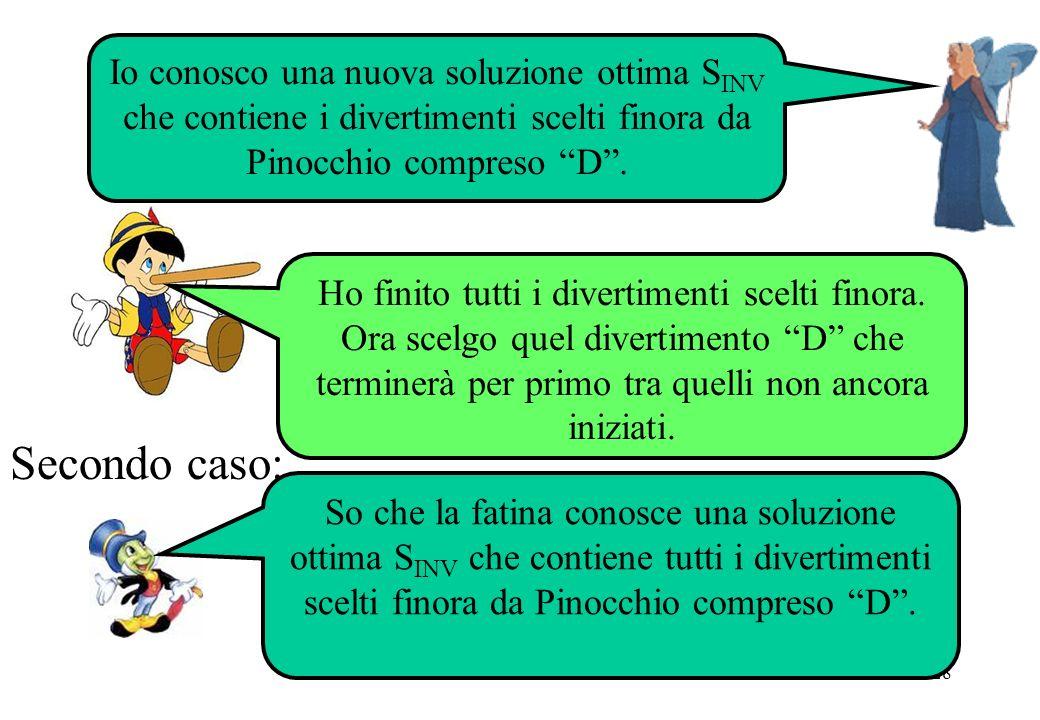 Io conosco una nuova soluzione ottima SINV che contiene i divertimenti scelti finora da Pinocchio compreso D .