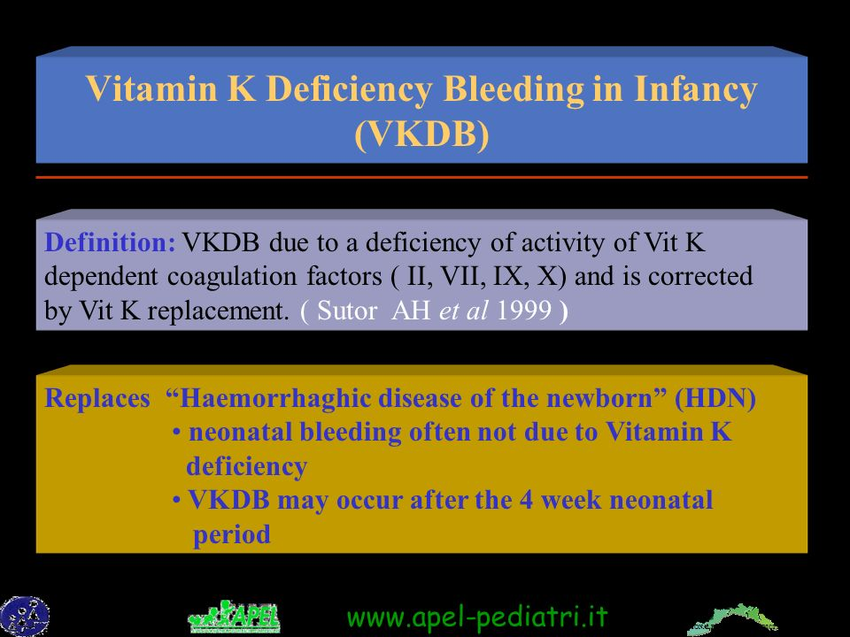 Vitamin K Deficiency Bleeding in Infancy (VKDB)